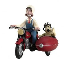 WALLACE ET GROMIT EN SIDE CAR
